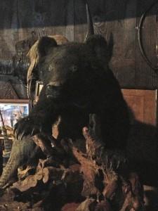 熊の剥製。かなり大きい!