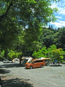 緑に囲まれたキャンプサイトでリフレッシュ