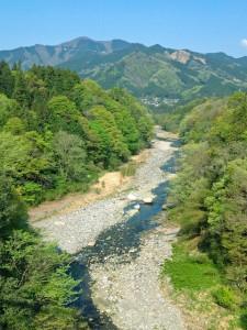 白川橋(三峰口)から大滝方面を望む