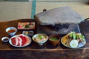 石器焼きお料理 一例