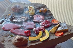 石器焼きお料理