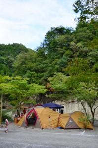 キャンプ場より
