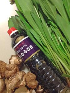 行者にんにくの収穫 むらさき醤油で漬けると美味しいです。