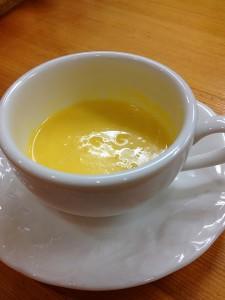 鶴首カボチャのポタージュスープ