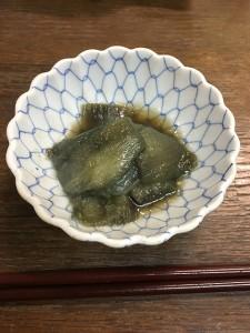 唐の芋のずいき炒め