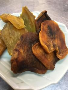 安穏芋の干し芋と柿スライス