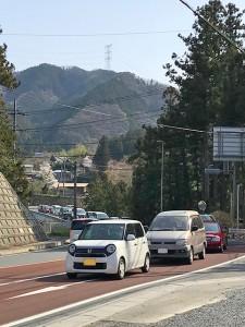 4月1日、140号は大渋滞でした。