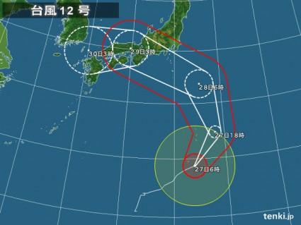 台風12号 tenki.jpより