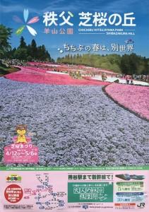 2019羊山公園芝桜の丘ポスター